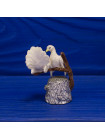 Металлический коллекционный наперсток с объемными фигурками голубей, сидящих на ветке