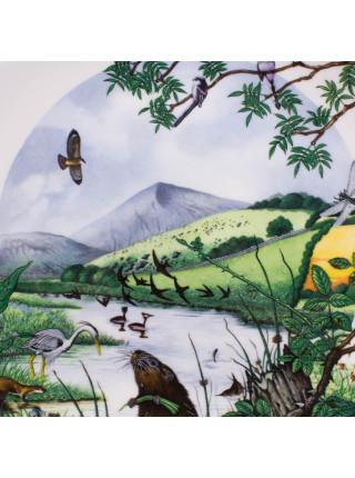 """Декоративная тарелка Wedgwood 6010 O """"The Lakeside"""" серии Colin Newmans Country Panorama"""