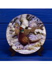 Тарелка с фазанами в снегу серии Country Artist