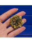Выразительная винтажная брошь в зеленых тонах, украшенная кристаллами и эмалью