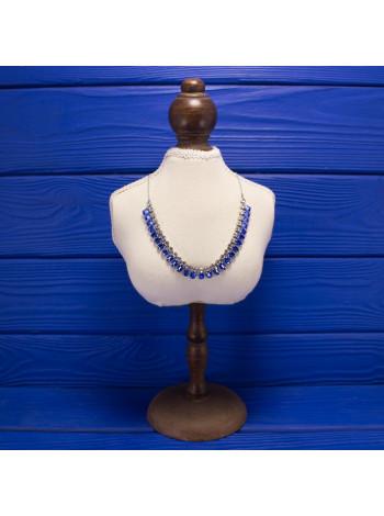 Удивительное винтажное колье, усыпанное искристыми кристаллами, двух форм и оттенков