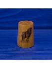 Коллекционный винтажных наперсток с изображением рабочей лошадки ограниченной серии из древесины смаковницы