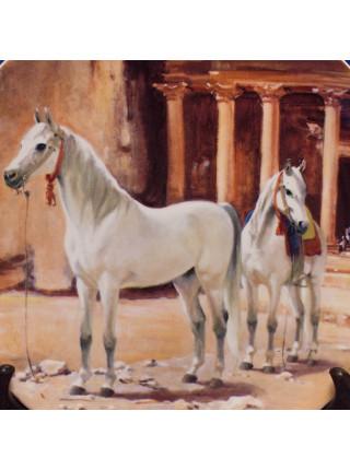 """Тарелка номер 9307D """"Arabian"""" от Spode серии The Noble Horse"""