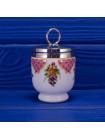 Винтажный кодлер дизайна Worcester Flowers с изображением цветов на одно яйцо от Royal Worcester