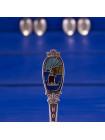 Пять коллекционных посеребренных ложечек из Норвегии, украшенных тематическими изображениями