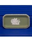 Коллекционная прямоугольная тарелка нежно-зеленого бисквита от Wedgwood