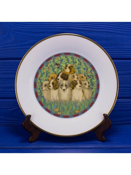 Коллекция фарфоровых тарелок от Franklin Porcelain с днями недели