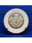 Комплект фарфоровых тарелок от Franklin Porcelain с днями недели