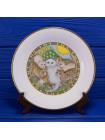 Комплект фарфоровых тарелок от Franklin Porcelain с днями недели, иллюстрирующая детскую считалку, которая по приданию определяет характер и будущее ребенка по дню рождения