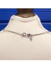 Лаконичная подвеска из розового кварца на серебряной цепочке