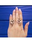 Очаровательные серьги в виде бабочки, сидящей на сердце, из серебра 925 пробы
