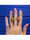 Элегантные клипсы в форме бутона цветка с имитированными жемчужинами в стиле дамаскин