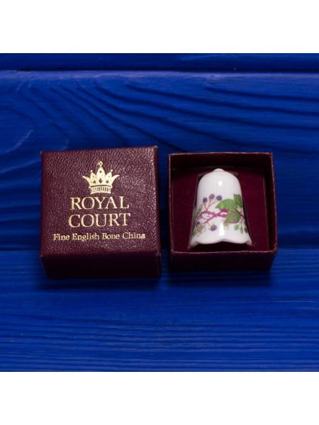 Коллекционный английский напёрсток из костяного фарфора в оригинальной коробочке производства Royal Court
