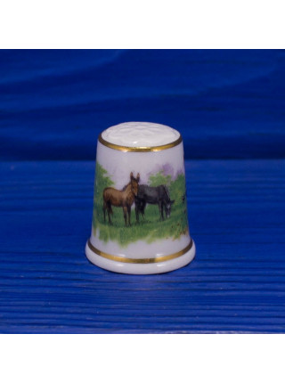 Винтажный наперсток из Баварии от Lang Ebrach в оригинальной коробочке