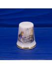 """Коллекционный фарфоровый наперсток """"Winter"""" (Зима) с мышкой Mrs Toadflax из коллекционной серии Brambly Hedge  от Royal Doulton"""