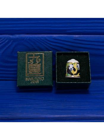 Коллекционный японский наперсток от Marutoyo с пандами в оригинальной коробочке