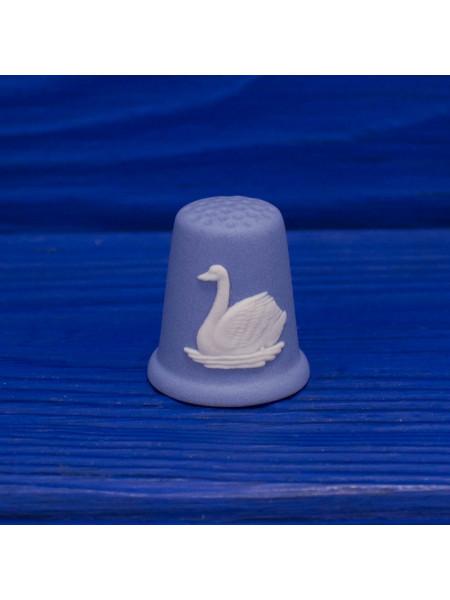 Редкий коллекционный наперсток с изображением лебедя от Wedgwood
