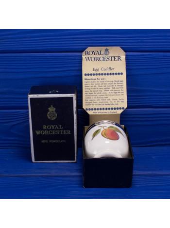 Винтажный кодлер дизайна Evesham с изображением сливы и ежевики на два яйца в оригинальной коробке от Royal Worcester