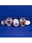 Квартет винтажных кодлеров дизайна Evesham с изображением сливы и ежевики на одно яйцо от Royal Worcester