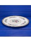 Фарфоровое блюдо с нарядным рисунком дизайна Ming Rose от Coalport