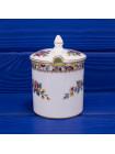 Фарфоровый горшочек с крышкой с нарядным рисунком дизайна Ming Rose от Coalport