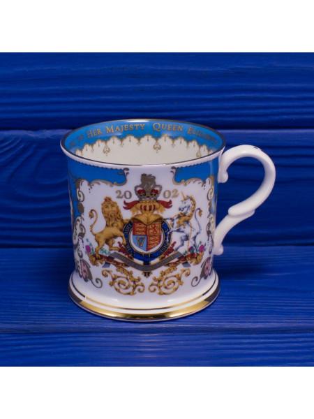 Кружка для чая из Букингемского Дворца, выпущенная к золотому юбилею правления королевы Елизаветы II. Золото 22К