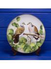 Тарелка Turtle Dove (горлица), выпущенной Franklin Porcelain при участии Limoges специально для Международного совета по сохранению птиц
