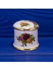 Винтажная шкатулка овальной формы из костяного фарфора дизайна Old Country Roses от Royal Albert