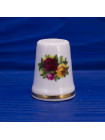 Коллекционный винтажный фарфоровый наперсток дизайн Old Country Roses от Royal Albert в оригинальной коробочке