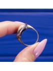 Античный профиль на винтажной черной камее в серебре кольца от Wedgwood 1974 года