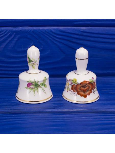 Пара винтажных миниатюрных коллекционных колокольчиков из костяного фарфора от Lady Elegance