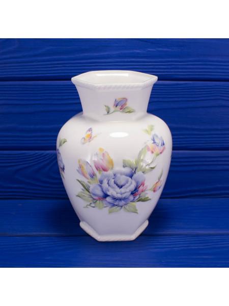 Удивительной красоты фарфоровая ваза с объемным рисунком очень редкого дизайна Celeste от Aynsley