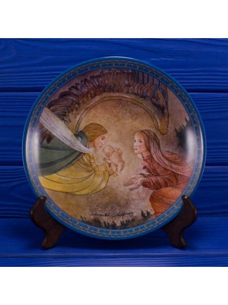 Тарелка номер 9833 B Die Gabe от Konigszelt Bavaria из коллекционной серии Sulamiths Liebeslied (Песни о любви Суламифь)