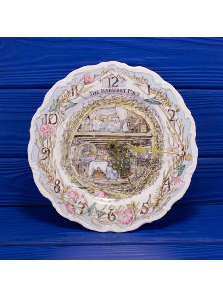 Чудесные редкие коллекционные фарфоровые часы The Harvest Mice от Royal Doulton