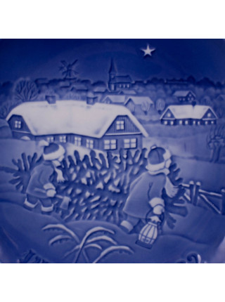 Тарелка B&G (Bing & Grondahl) Рождество 1982 год
