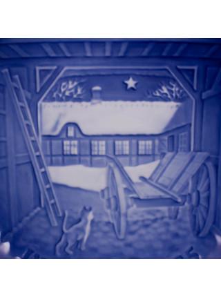 Тарелка B&G (Bing & Grondahl) Рождество 1985 год