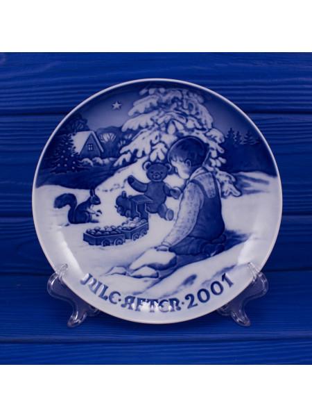 Тарелка B&G (Bing & Grondahl) Рождество 2001 год