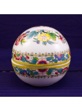 Шкатулка COALPORT дизайн MING ROSE в форме яйца