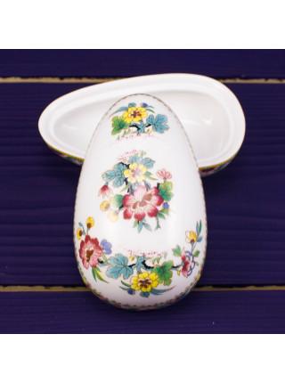 Шкатулка Coalport в форме яйца ДИЗАЙН MING ROSE