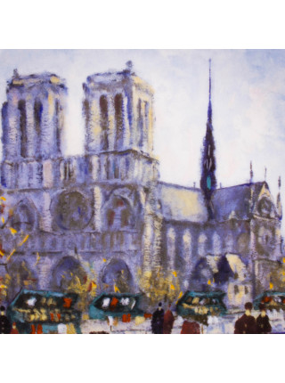 """Тарелка LIMOGES №AX 756 """"LE CATHEDRALE NOTRE-DAME"""""""